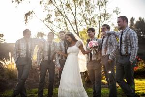 bride w bestmen